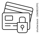credit card security icon in... | Shutterstock .eps vector #1060831991