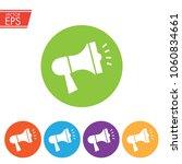 megaphone icon for social media ... | Shutterstock .eps vector #1060834661