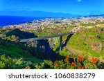 aerial view over funchal city... | Shutterstock . vector #1060838279