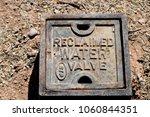 reclaimed water valve cover | Shutterstock . vector #1060844351