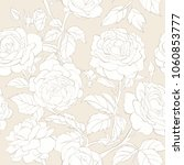 seamless pattern with flowers... | Shutterstock .eps vector #1060853777