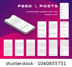 10 in 1 ui kits. wireframes... | Shutterstock .eps vector #1060855751