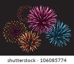 realistic vector fireworks...   Shutterstock .eps vector #106085774