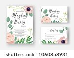 wedding invite template with... | Shutterstock .eps vector #1060858931
