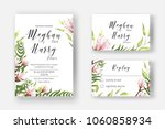 wedding invite template with... | Shutterstock .eps vector #1060858934