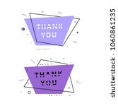 thank you cards isolated on... | Shutterstock .eps vector #1060861235