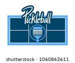 pickleball symbol design | Shutterstock .eps vector #1060863611