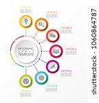 multicolored infographic... | Shutterstock .eps vector #1060864787