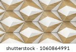 eco wood 3d tiles with white... | Shutterstock . vector #1060864991