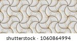 white leather tiles with gold... | Shutterstock . vector #1060864994