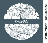 smoothie and ingredients for... | Shutterstock .eps vector #1060865351