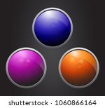 vector glossy icons. | Shutterstock .eps vector #1060866164