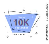 10k followers thank you card.... | Shutterstock .eps vector #1060866539