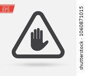 stop sign push hand. do not... | Shutterstock .eps vector #1060871015