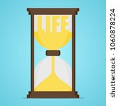 hourglass with the word life....   Shutterstock .eps vector #1060878224