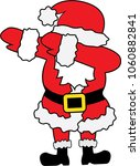 dabbing santa claus  | Shutterstock .eps vector #1060882841