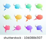 numbered gradient thought... | Shutterstock .eps vector #1060886507