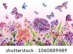 summer wide banner. beautiful... | Shutterstock . vector #1060889489