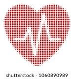 cardiology halftone vector icon.... | Shutterstock .eps vector #1060890989
