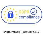 gdpr   general data protection... | Shutterstock .eps vector #1060895819