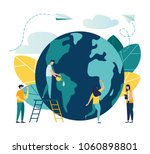vector flat illustration ... | Shutterstock .eps vector #1060898801