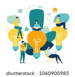 vector flat illustration ... | Shutterstock .eps vector #1060900985