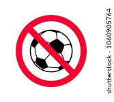 no ball games red prohibition...   Shutterstock .eps vector #1060905764