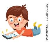 vector illustration of kid... | Shutterstock .eps vector #1060906109