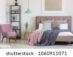 pastel  feminine bedroom... | Shutterstock . vector #1060911071