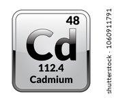 cadmium symbol.chemical element ... | Shutterstock .eps vector #1060911791