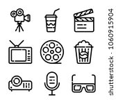 photo and video icon set | Shutterstock .eps vector #1060915904