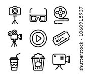 photo  and video icon set | Shutterstock .eps vector #1060915937