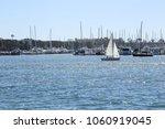A Boat Sailing Through Marina...