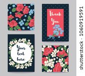 floral greeting cards set... | Shutterstock .eps vector #1060919591