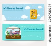 it s time to travel.trip to...   Shutterstock .eps vector #1060920179