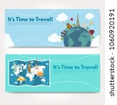 it s time to travel.trip to...   Shutterstock .eps vector #1060920191