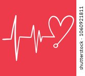 heartbeat line cardio minimal...   Shutterstock .eps vector #1060921811