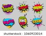 keep calm gtfo stop wow pop set ...   Shutterstock .eps vector #1060923014