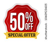 special offer 50  off label or... | Shutterstock .eps vector #1060923605