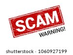 scam grunge red stamp. scam... | Shutterstock .eps vector #1060927199