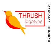 nice logo of a small bird. cute ...   Shutterstock .eps vector #1060935119