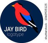 nice round logo of a bird. cute ...   Shutterstock .eps vector #1060935125