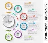 vector abstract 3d paper... | Shutterstock .eps vector #1060935317