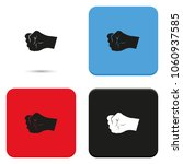 fist flat vector icon. | Shutterstock .eps vector #1060937585