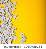 incomplete jigsaw puzzle piece...   Shutterstock . vector #1060938251