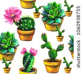 cactus  pattern set of...   Shutterstock . vector #1060938755