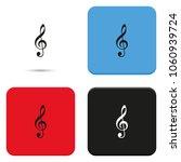 treble clef flat vector icon.   Shutterstock .eps vector #1060939724