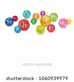 vitamins and minerals.... | Shutterstock .eps vector #1060939979