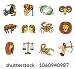 zodiac symbols vector astrology ... | Shutterstock .eps vector #1060940987