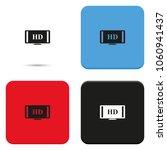 hdtv flat vector icon. high... | Shutterstock .eps vector #1060941437